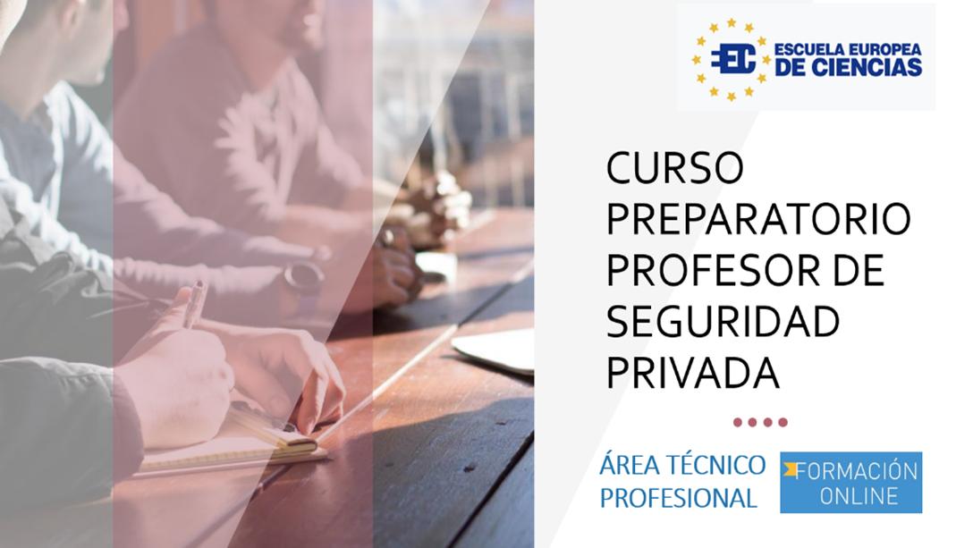 curso preparatorio profesores de seguridad privada
